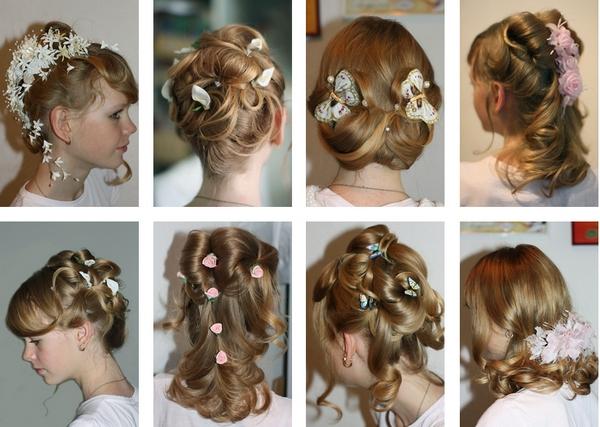 Варианты причесок на волосы средней длины. Фотос с сайта http://paryck.ru.com/