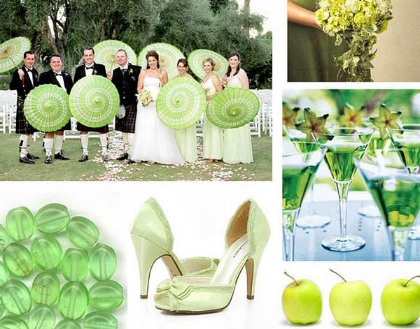 Детали: оформление свадьбы в зеленом цвете. Фото с сайта dikmi.ru