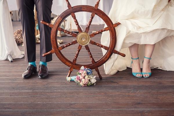 Оформляем свадьбу в морском стиле. Фото с сайта www.nevesta.info