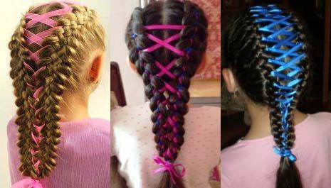 плетение кос девочке фото