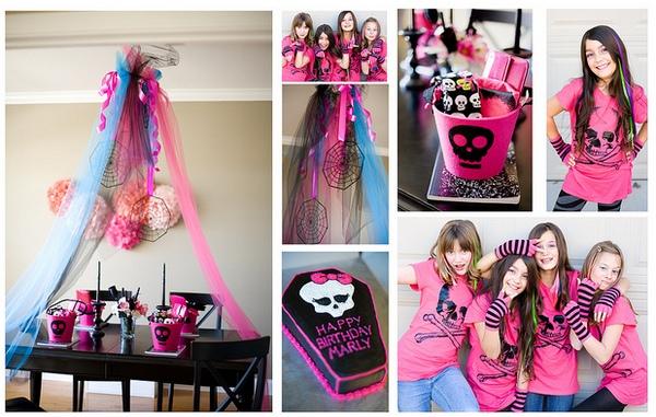 Украшения и детали вечеринки должны быть в стиле Монстер Хай. Фото с сайта www.bweddingplanner.com