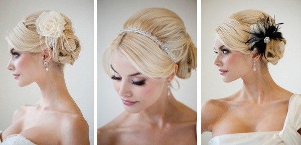 Свадебные прически с диадемой без фаты на средние волосы