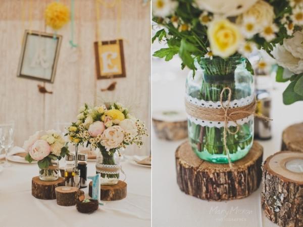 Свадьба в экостиле: декор. Фото с сайта cultandart.ru