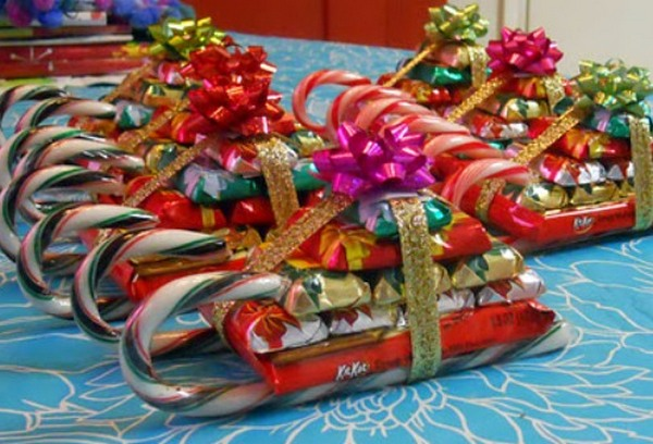 Вот такие сани из конфет! Фото с сайта http://www.liveinternet.ru
