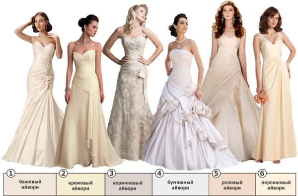 Все оттенки айвори. Фото с сайта lookcolor.ru