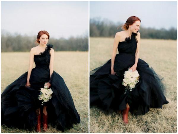 Как выбрать черное свадебное платье? Фото с сайта www.intermoda.ru
