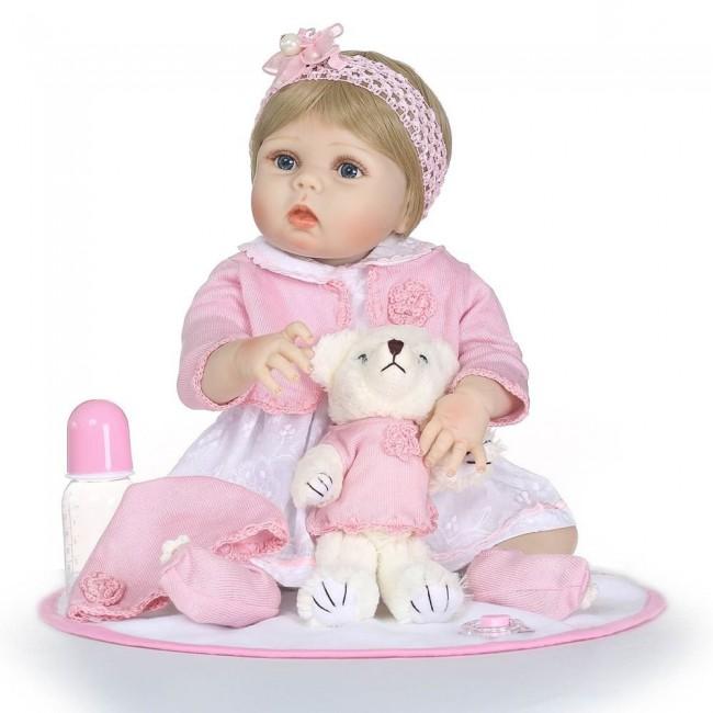Кукла реборн силиконовая 55 см