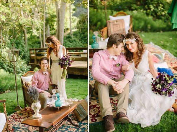 Свадьба в стиле бохо: оформление. Фото с сайта greenweddingshoes.com