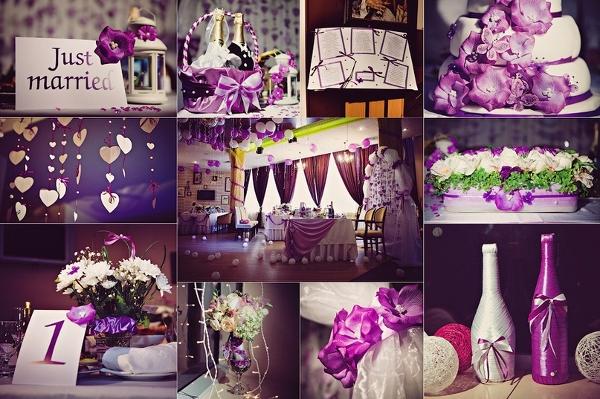 Свадьба в цвете лиловом фото
