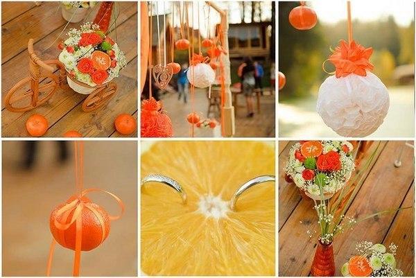 Оформление в оранжевых тонах