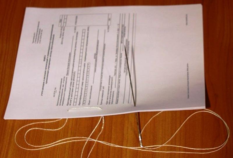 Как правильно сшить документы ниткой
