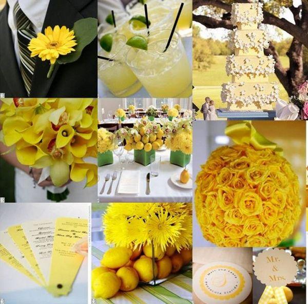 Желтые элементы сделают свадьбу стильной. Фото с сайта wedding-diary.ru