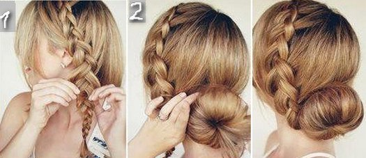 Прически на средние волосы своими руками из косичек