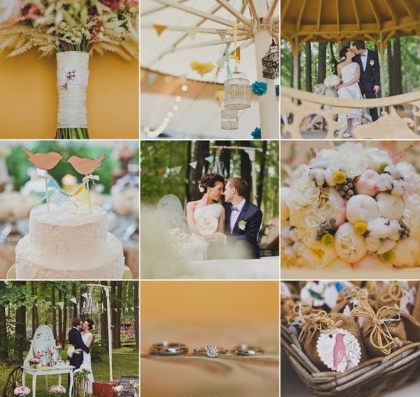 Яркие моменты свадьбы в экостиле. Фото с сайта cultandart.ru