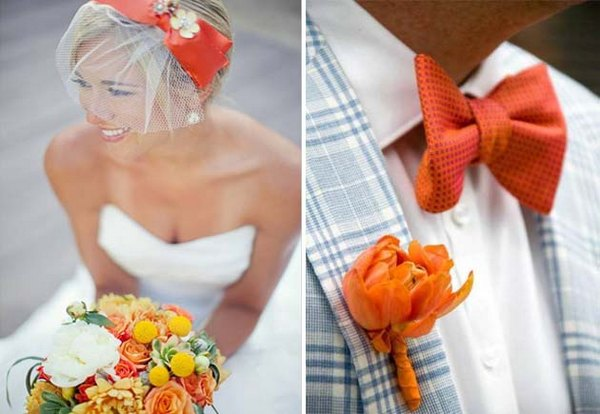 Образы молодоженов: оранжевая свадьба. Фото с сайта lulusvadba.ru