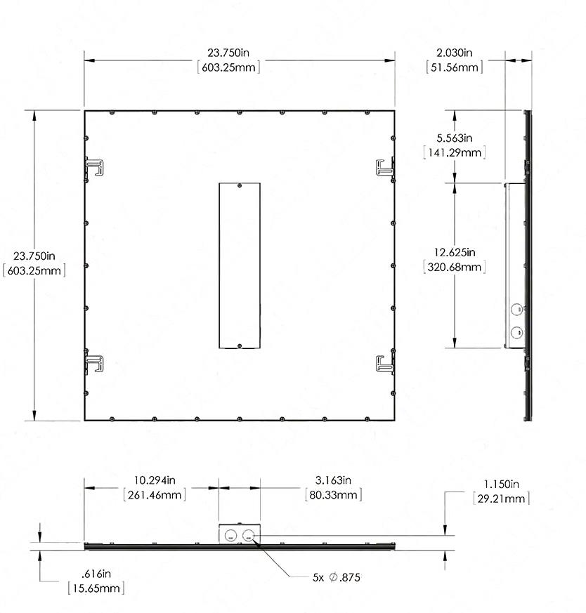 Размеры Led панели