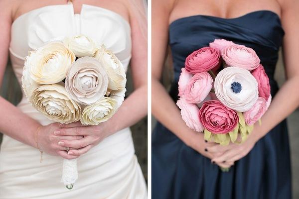Цветы из бумаги — превосходное решение для свадебного букета. Фото с сайта buket.io