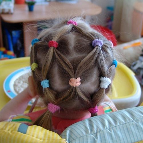 Детские прически из хвостиков