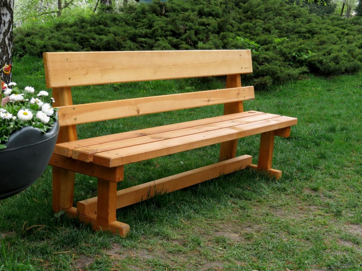 Дачная скамейка своими руками