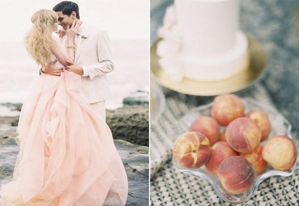 Очарование персиковых оттенков. Фото с сайта my-svadba.ru