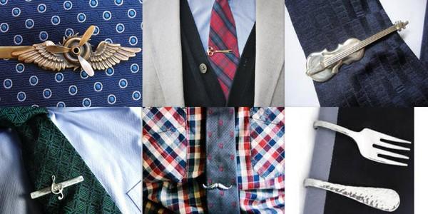 Оригинальные варианты зажимов для галстука. Фото с сайта shop-usa.livejournal.com