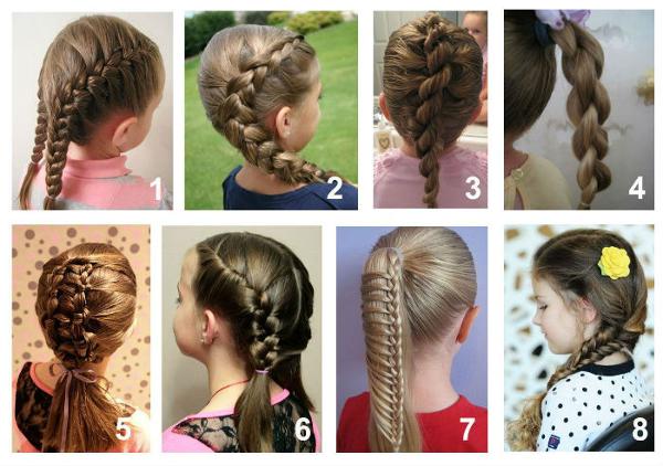 Прически для средних волос ребенку в школу легкие