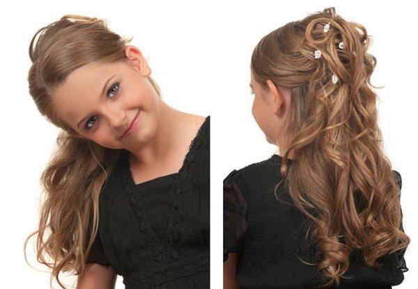 Прическа на длинные волосы на 1 сентября 5 класс