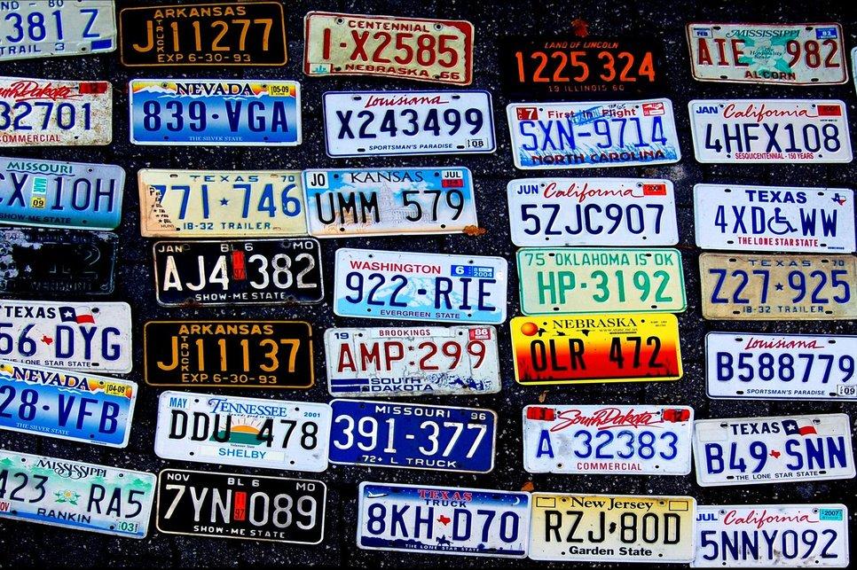стоимость номерного знака для автомашины
