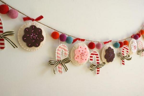 Эффектные гирлянды из фетра — на любой праздник. Фото с сайта 2.sergesl.myjino.ru