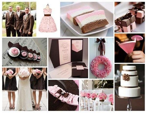 Яркие акценты шоколадной свадьбы. Фото с сайта vk.com