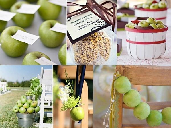 Яблочный декор — красивая свадьба. Фото с сайта mag.relax.by