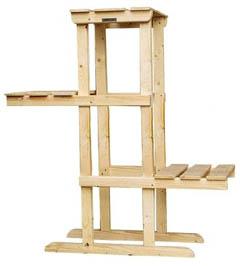 Этажерка консольной конструкции с полным выносом полок
