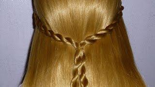 коса жгут схема плетения
