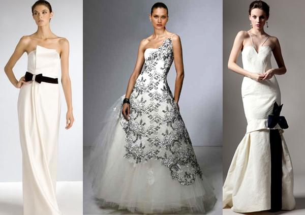 Черно-белое свадебное платье. Фото с сайта http://hivemind.com.ua/