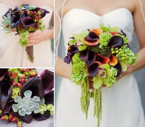 Яркий свадебный букет. Фото с сайта liveinternet.ru