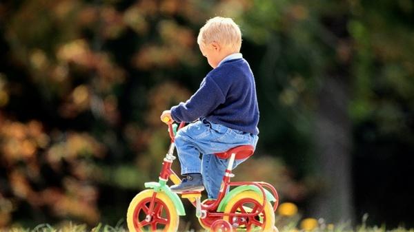 Транспорт для малышей — велосипед. Фото с сайта www.zastavki.com