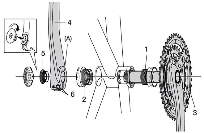 смазка каретки велосипеда без разборки