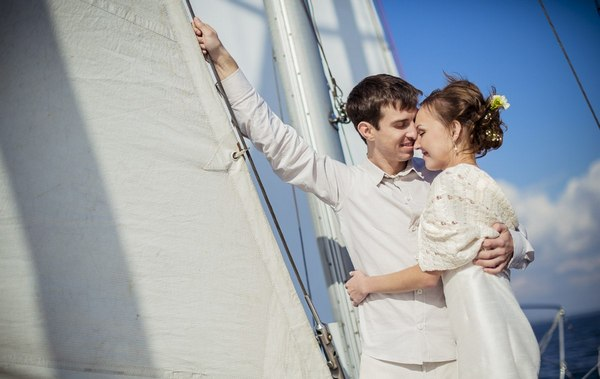 Как организовать свадьбу в морском стиле. Фото с сайта www.sysanna.ru