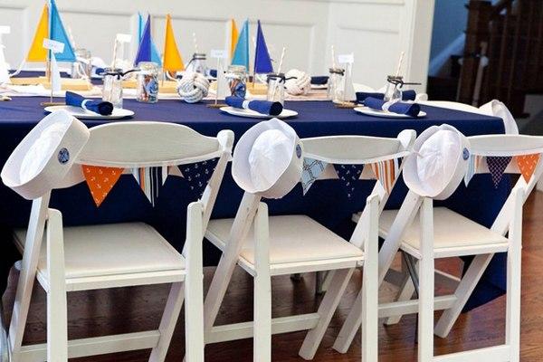 Оформление стола и помещения в морском стиле. Фото с сайта m-class.info