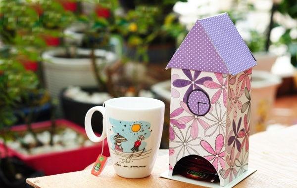 Красивый чайный домик в подарок. Фото с сайта liveinternet.ru/