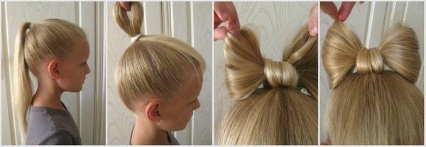 Просто и красиво — бант из волос. Фото с сайта http://fp.demo.argentum.ua
