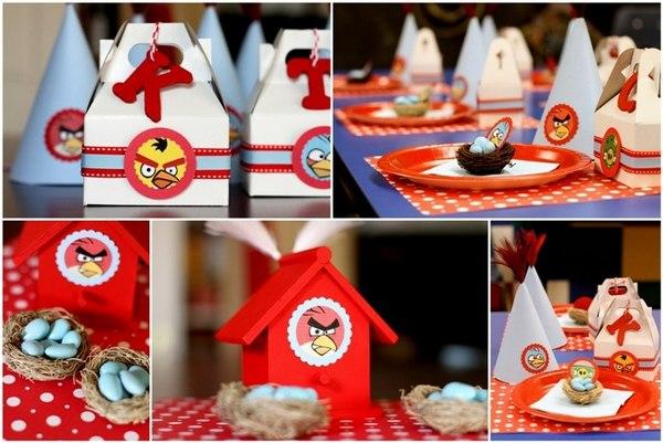 Веселое оформление в стиле злых птичек. Фото с сайта apple-case-box.blogspot.com