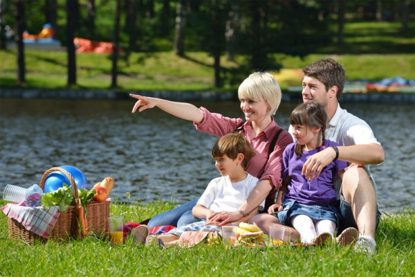 Семейный пикник на берегу озера. Фото с сайта hivemind.com.ua