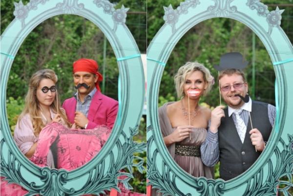 Как оформить фотозону в соответствии с тематикой свадьбы. Фото с сайта vk.com