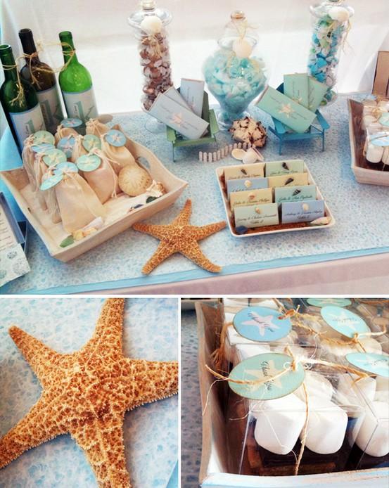 Ракушки, звезды — атрибуты морской вечеринки. Фото с сайта blog.hwtm.com