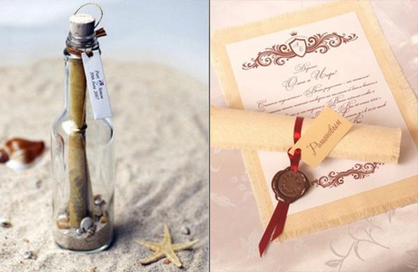 Идеи для приглашений на свадьбу. Фото с сайта photo-intropics.blogspot.com