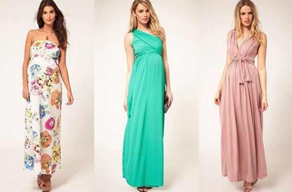 Принципы выбора вечернего платья в пол для беременных. Фото с сайта hairlife.ru