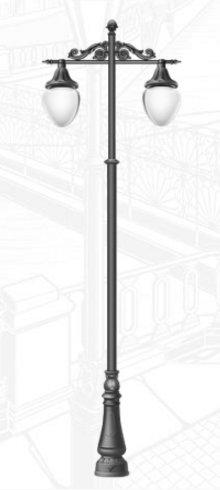 Фонарный столб в классическом стиле, 4,7 м.