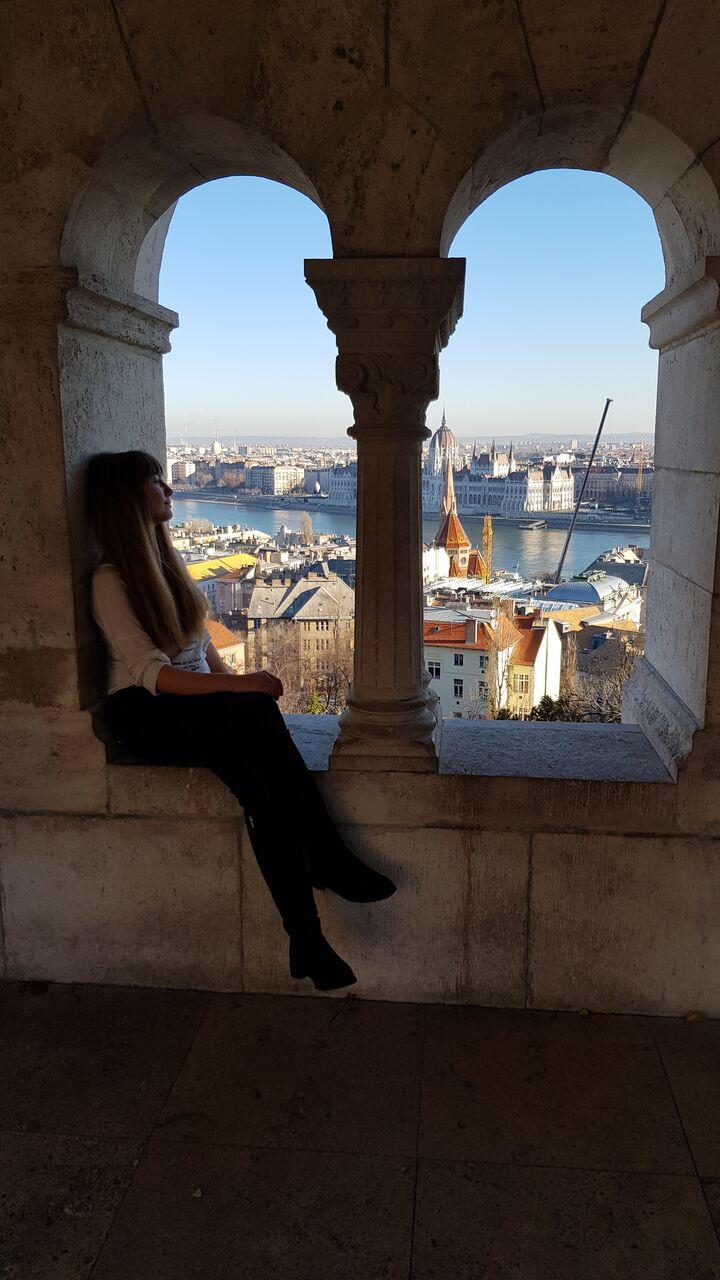 Архитектура Будапешта и вид на Дунай.