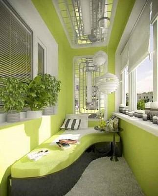 Дизайн внутренней отделки балкона